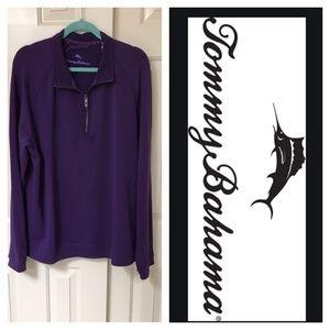 NWT Tommy Bahama sweatshirt 1/2 zip purple